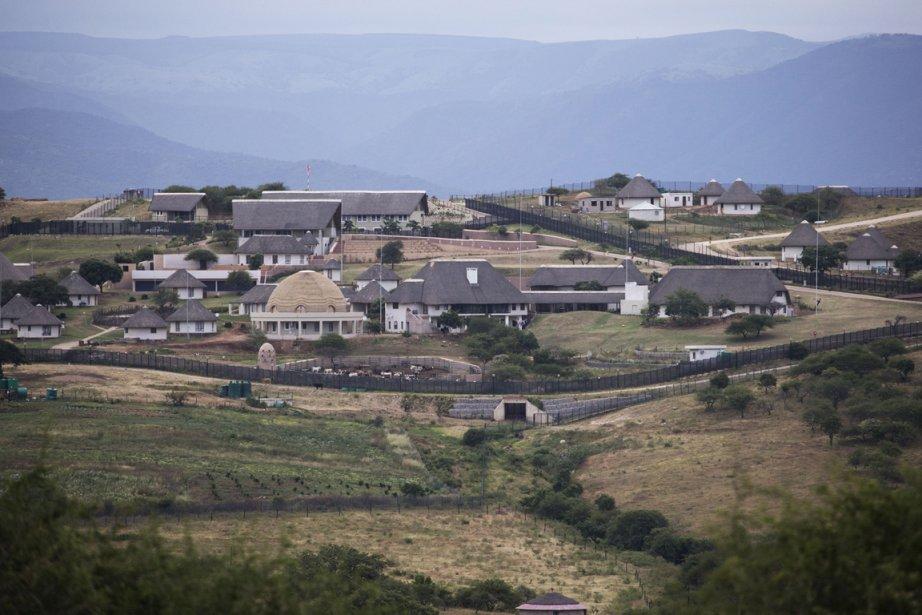 La propriétédu président sud-africain Jacob Zuma, à Nkandla.... (Photo Marco Longari, AFP)