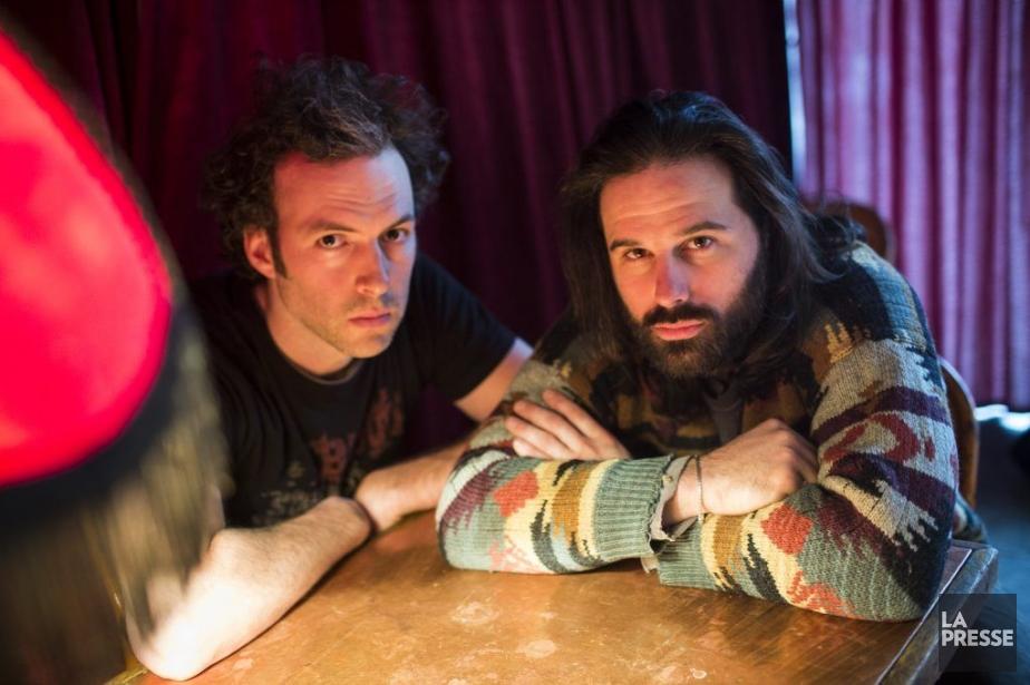 Mathieu Quesnel et Éric Robidoux, deux comédiens au... (PHOTO OLIVIER PONTBRIAND, LA PRESSE)