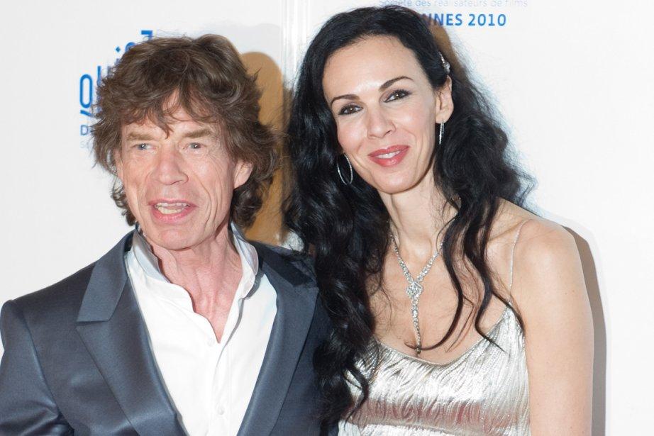 Mick Jagger etL'Wren Scott en 2010.... (PHOTO ARCHIVES AFP)