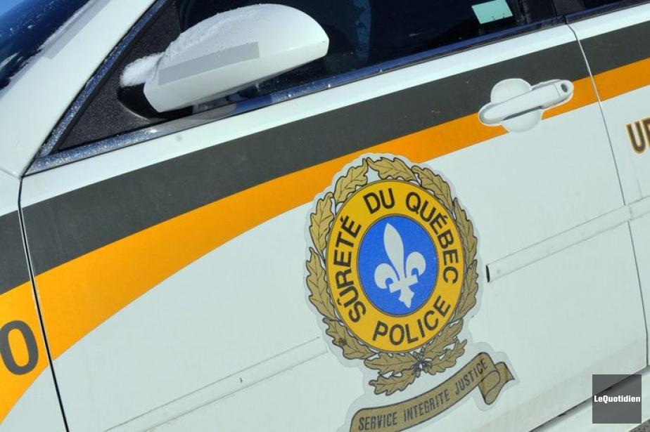 La Sûreté du Québec est présente sur les... (Photo Le Quotidien)