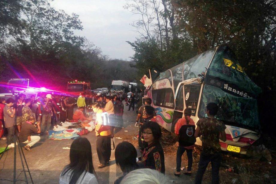 Un accident d'autocar fatal était également survenu le... (PHOTO ARCHIVES AFP)