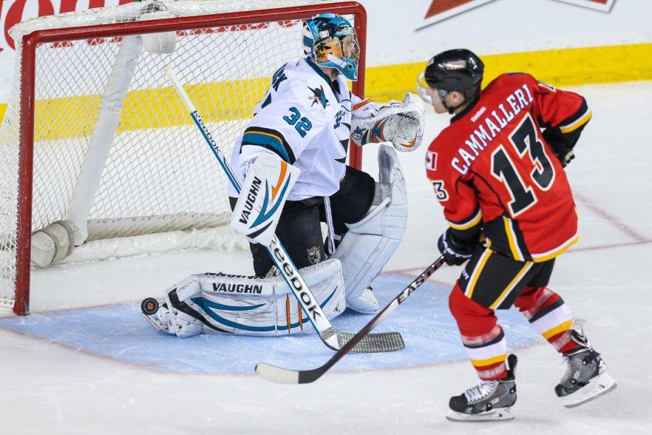 Mike Cammalleri a procuré la victoire aux Flames... (Photo Sergei Belski, USA Today)