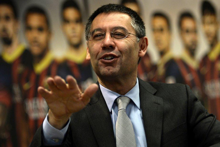 Le président du FC Barcelone, Josep Maria Bartomeu.... (Photo Lluis Gene, AFP)