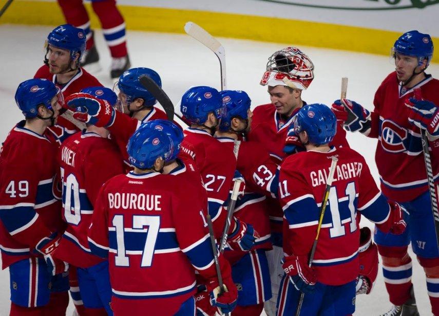 Les Canadiens ont signé une troisième victoire d'affilée. (André Pichette, La Presse)
