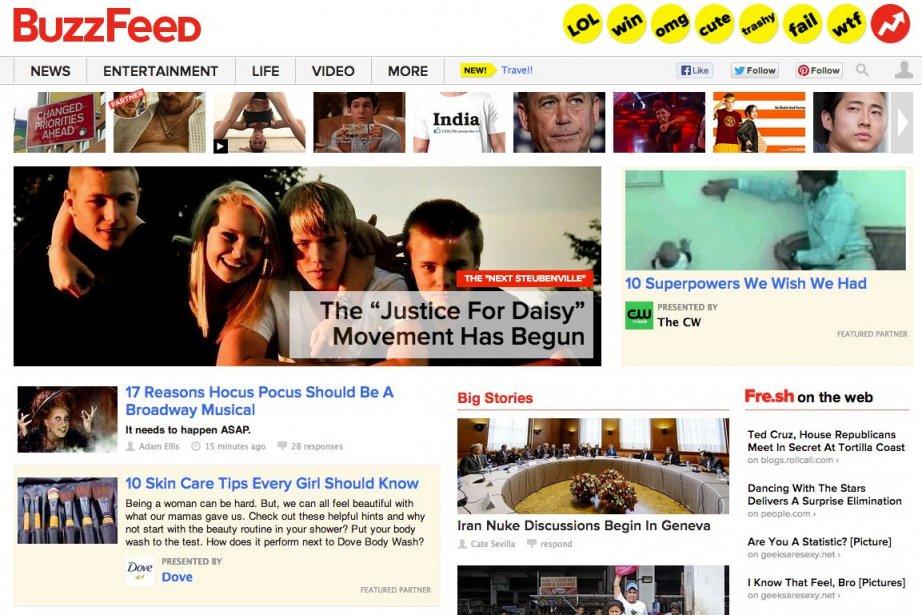 Des sites comme BuzzFeed et Quartz couvrent de... (Photo BuzzFeed)