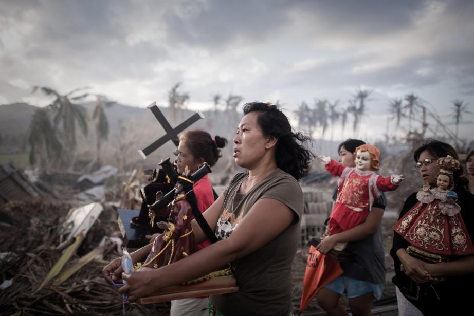 Les Philippines ont subi l'an dernier les catastrophes... (PHOTO PHILIPPE LOPEZ, ARCHIVES AFP)