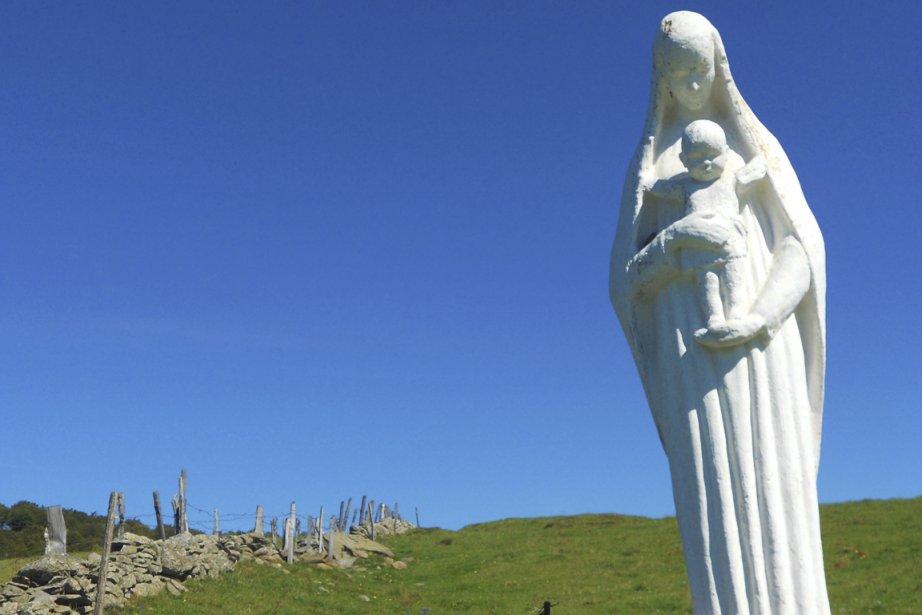 Jour 8: sous le regard de la Sainte-Vierge. (Photo Sarah-Émilie Nault, collaboration spéciale)