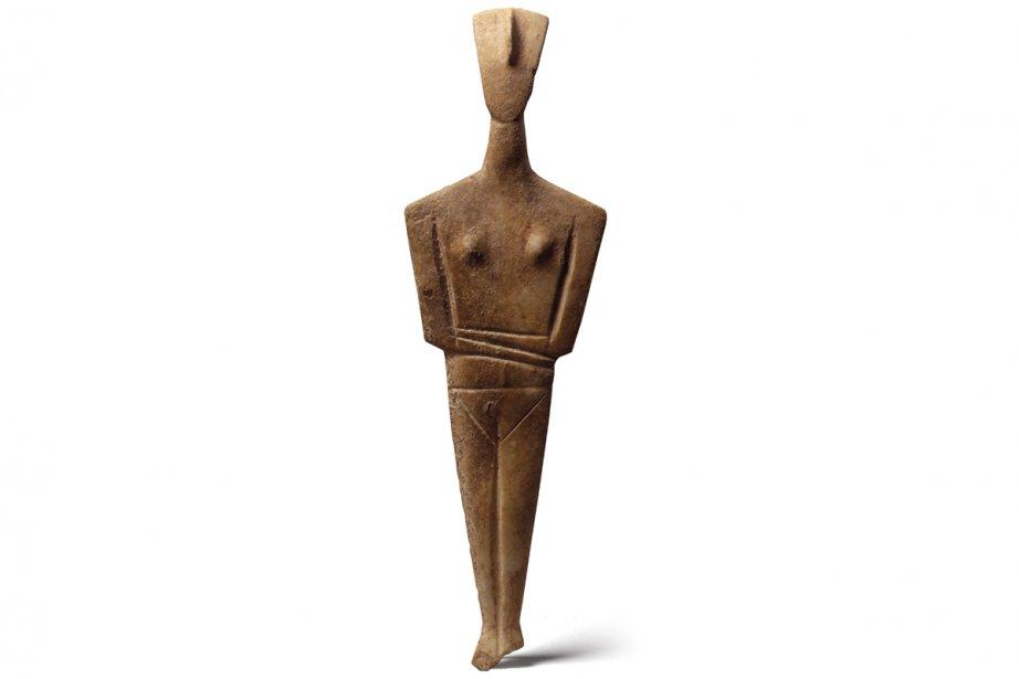 Idole cycladique trouvée dans l'île d'Amorgos (Cyclades). (Photo: fournie par le musée Pointe-à-Callière)