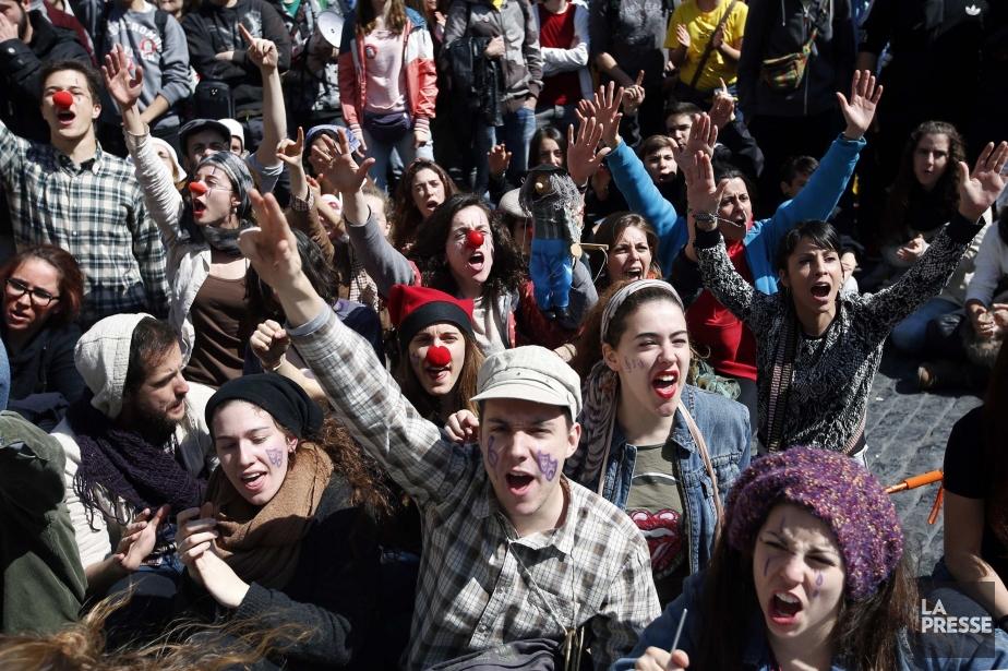 «Nous ne voulons pas payer votre dette avec... (Photo ALBERT GEA, Reuters)