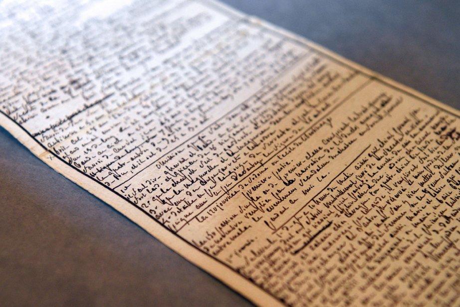 Le sulfureux manuscrit des Cent vingt journées de... (Photo: AFP)