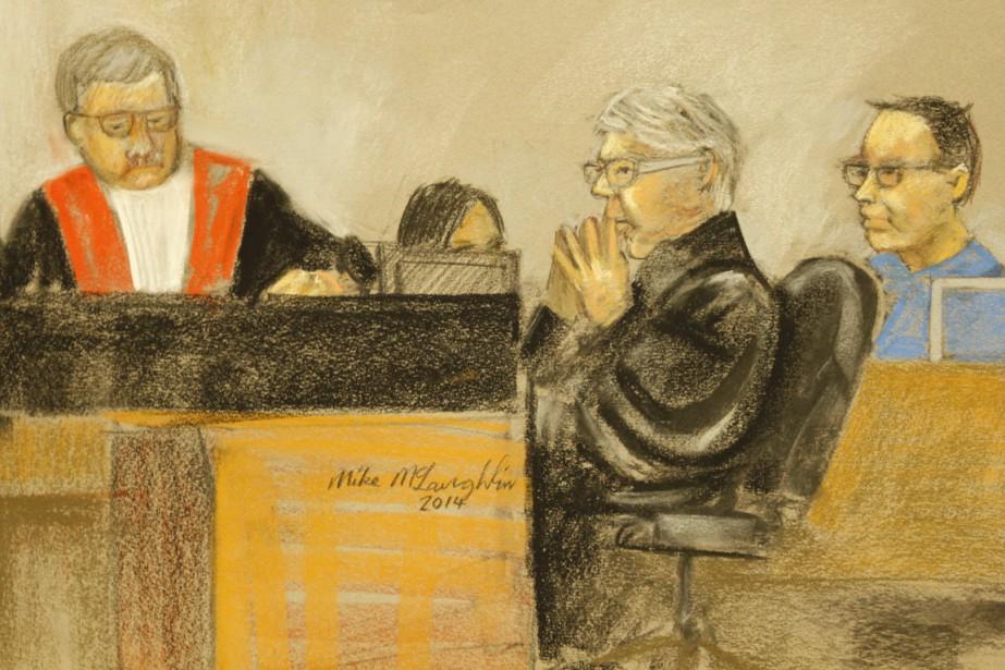 L'ancien enquêteur du SPVMBenoît Roberge, à droite.... (Illustration La Presse Canadienne)