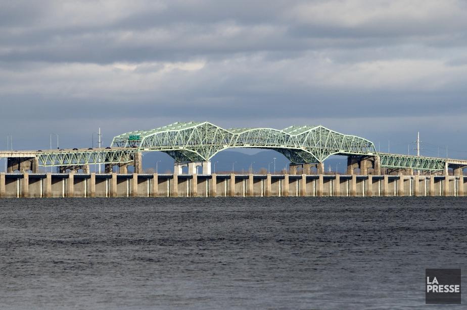 Le futur pont qui remplacera l'actuel pont Champlain... (Photo Robert Skinner, archives La Presse)