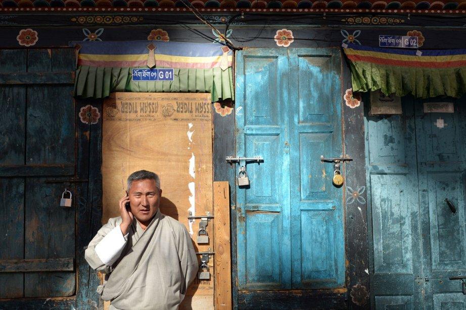 «Le Bhoutan est en train de sauter de... (PHOTO AFP)