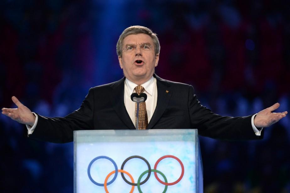 Le président du Comité international olympique, Thomas Bach.... (Photo Jung Yeon-je, AP)