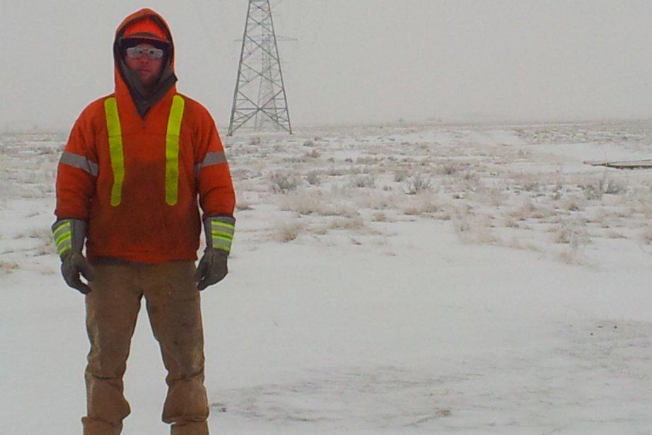 Olivier Corbeil est monteur de lignes en Alberta.... (Photo fournie par Olivier Corbeil)