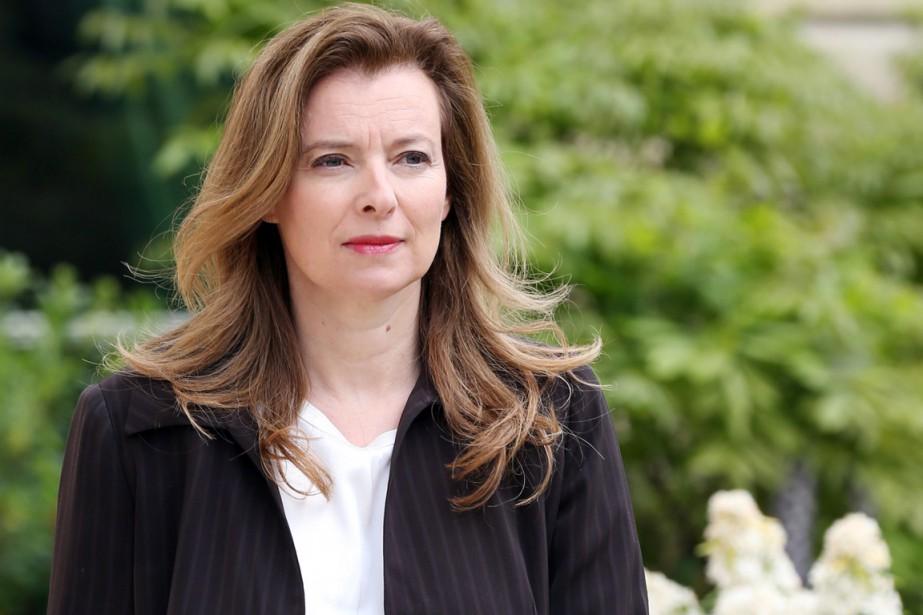 L'ex-première femme française Valérie Trierweiler, à Paris, en... (PHOTO THOMAS SAMSON, ARCHIVES AFP)