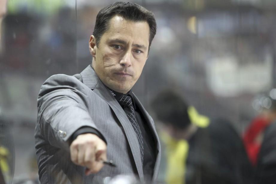 Guy Boucher est l'entraîneur-chef du CP Berne dans... (Photo Daniel Wenger, SC Bern)