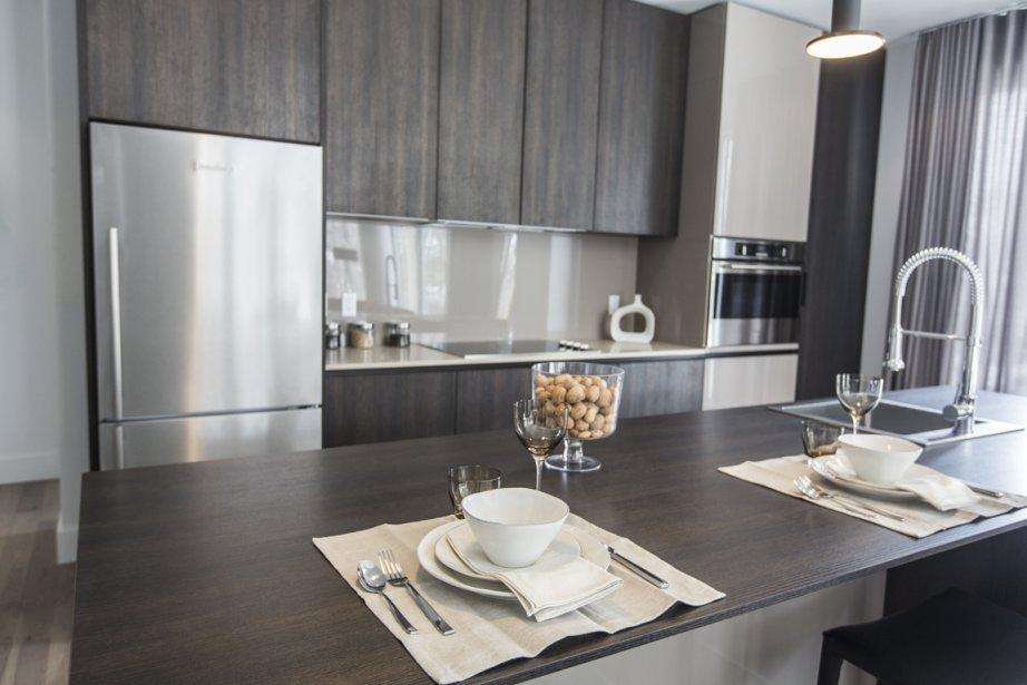 La cuisine, de marque Cesar, est conçue et fabriquée en Italie. Trois options sont offertes pour satisfaire à différents goûts. (Photo Olivier Pontbriand, La Presse)