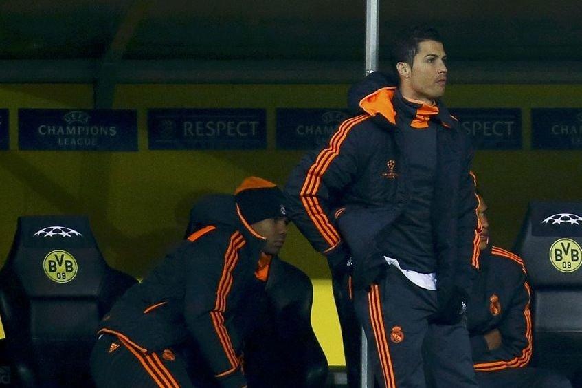 Cristiano Ronaldo n'a pas pris part au match... (PHOTO KAI PFAFFENBACH, REUTERS)