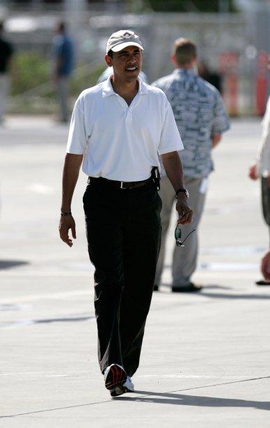 Avec ses «dad jeans», Barack Obama a été surnommé «le président normcore» par les adeptes du mouvement. (Photo Hugh Gentry, Archives Reuters)