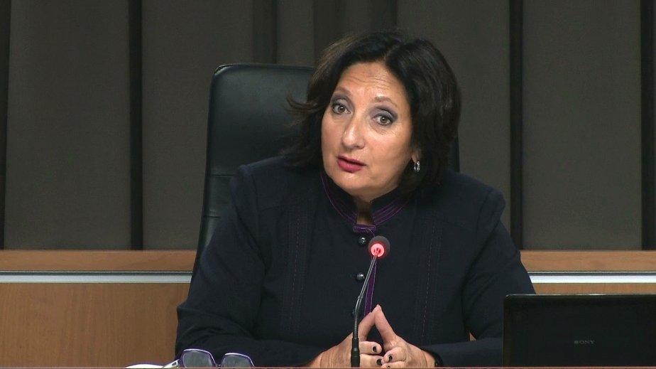 La juge France Charbonneau.... (Image tirée d'une capture vidéo.)