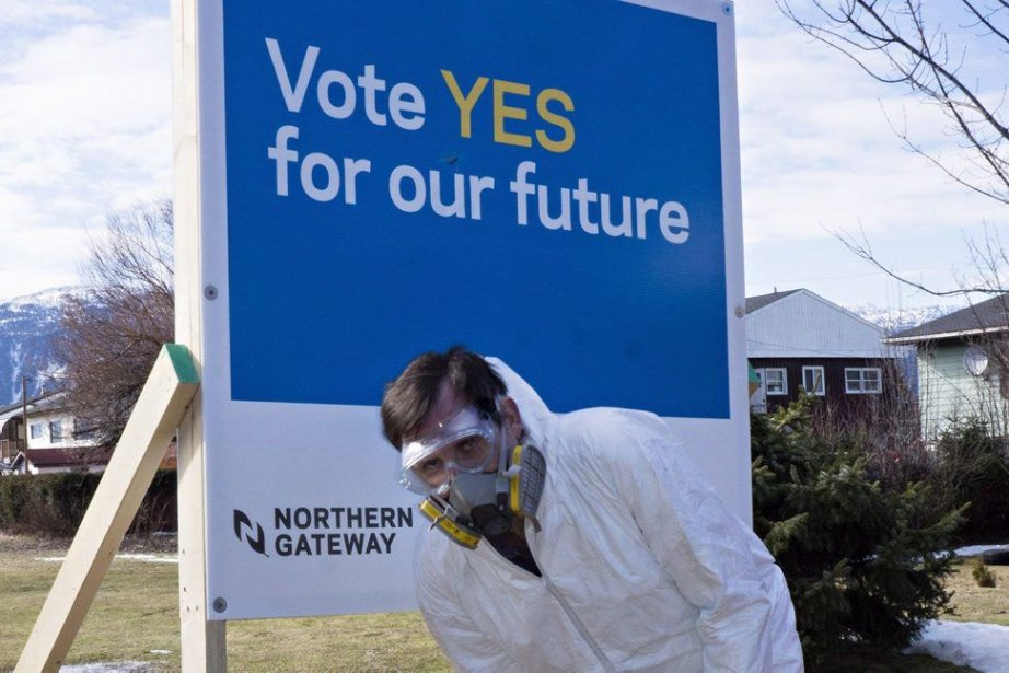Des résidants de Kitimat s'opposent auprojet d'oléoduc non... (Photo Robin Rowland, Archives PC)