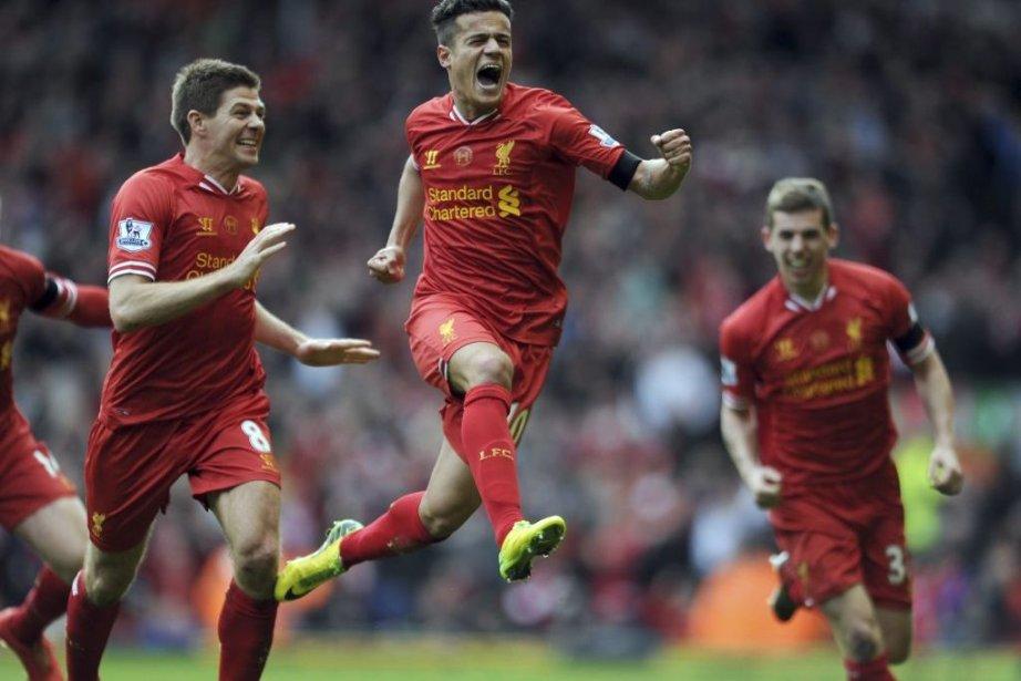 À quatre journées de la fin, Liverpool est... (Photo Clint Hughes, AP)