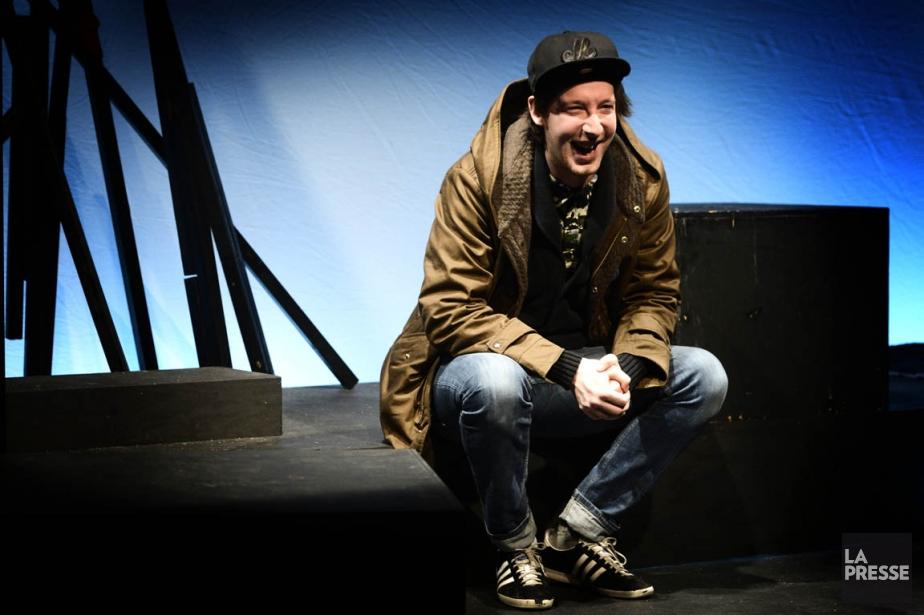 Le comédien Emmanuel Schwartz défend à lui seul... (Photo Bernard Brault, La Presse)