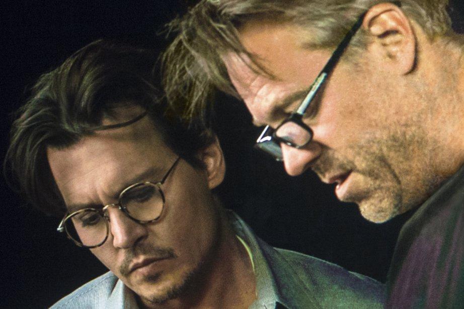 Johnny Depp et Wally Pfister... (Photo: fournie par Warner Bros.)