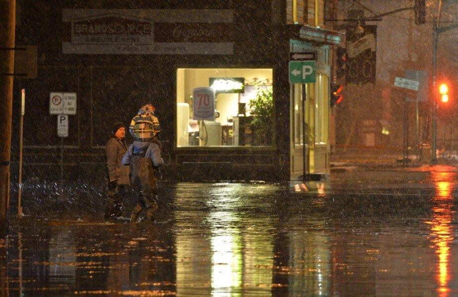 Inondation à Saint-Raymond. (Photo Pascal Ratthe, Le Soleil)