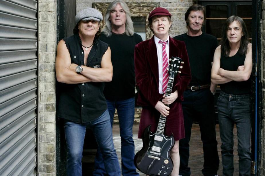 Le groupe AC/DC. Le batteur Phil Rudd est... (Photo: Sony/BMG)