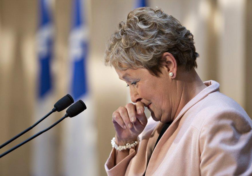 Pauline Marois lors de ses adieux à la... (Photo Jacques Boissinot, PC)