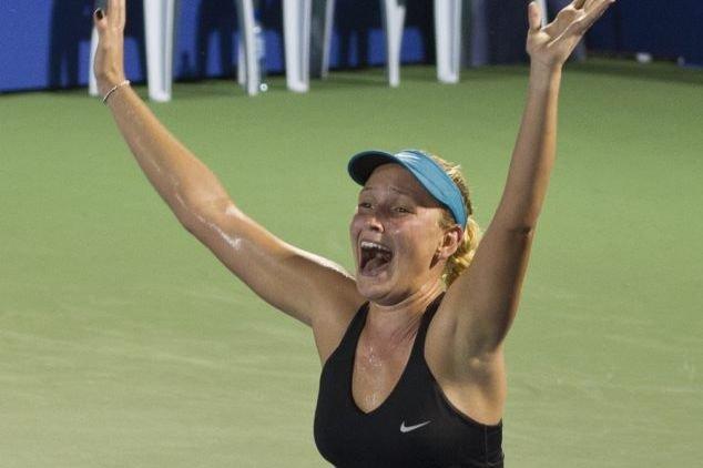 Vekic a remporté son premier titre de la... (PHOTO MOHD RASFAN, AFP)
