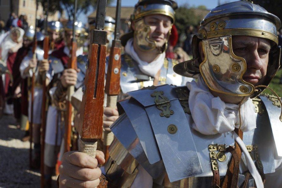 Soldats romains en formation. (Photo AP)