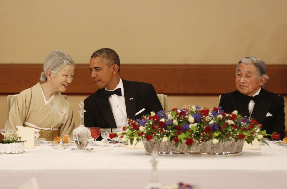 Le président des États-Unis, Barack Obama, en compagnie... (Photo Larry Downing, Reuters)