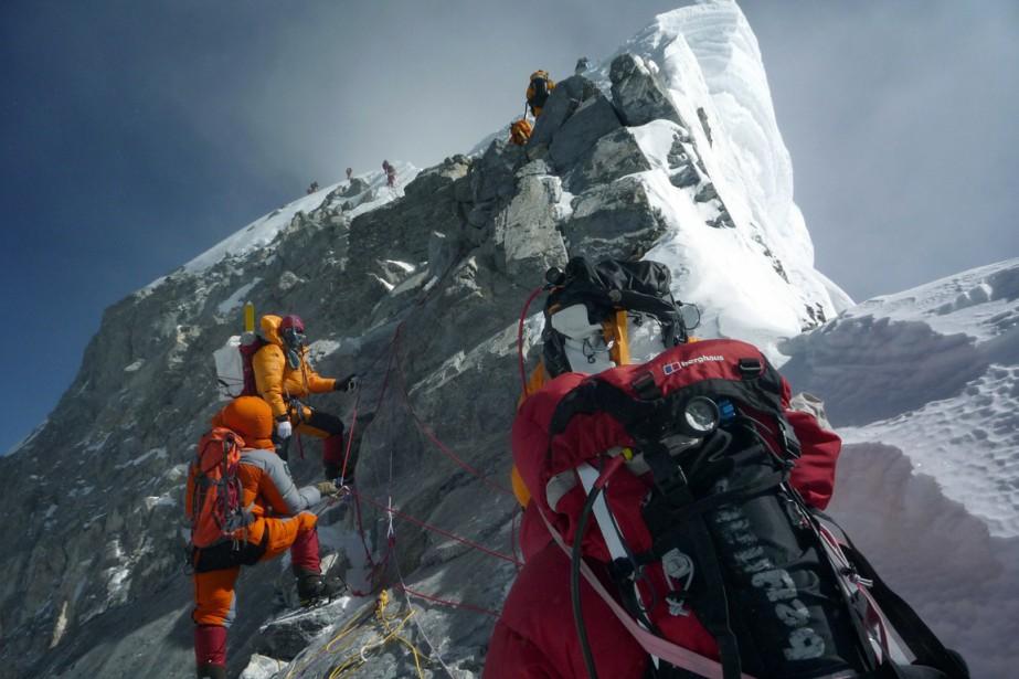 L'ascension vers le sommet de l'Everest ne serait... (Archives AFP)