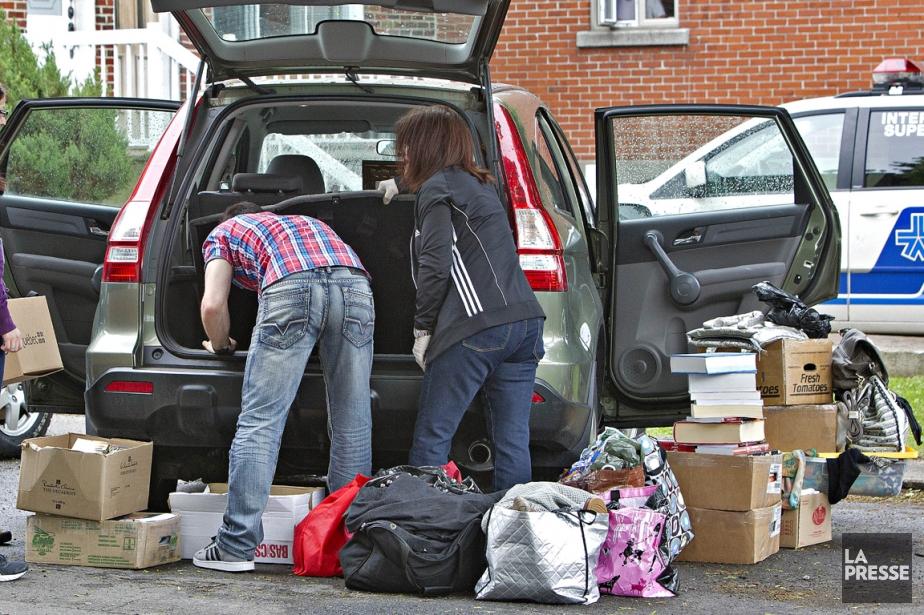 Les enquêteurs ont perquisitionné le domicile de Dominique... (Photo Patrick Sanfaçon, La Presse)