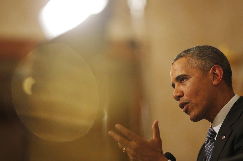 Le président américain Barack Obama, à Séoul, le... (PHOTO AFP)