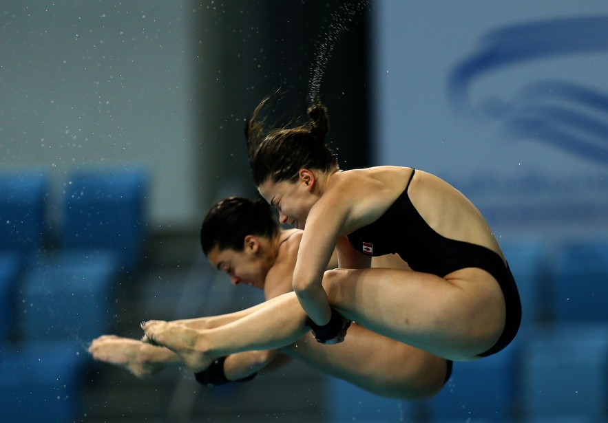 Meaghan Benfeito et Roseline Filion... (PHOTO ARCHIVES AGENCE FRANCE-PRESSE)