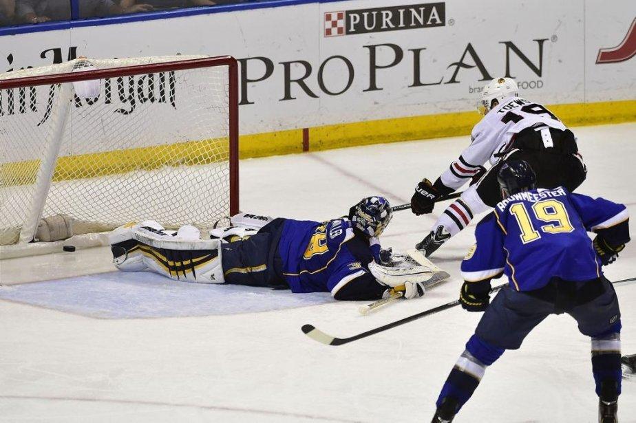 Les Blackhawks mènent maintenant la série 3-2.... (Photo USA Today Sports)