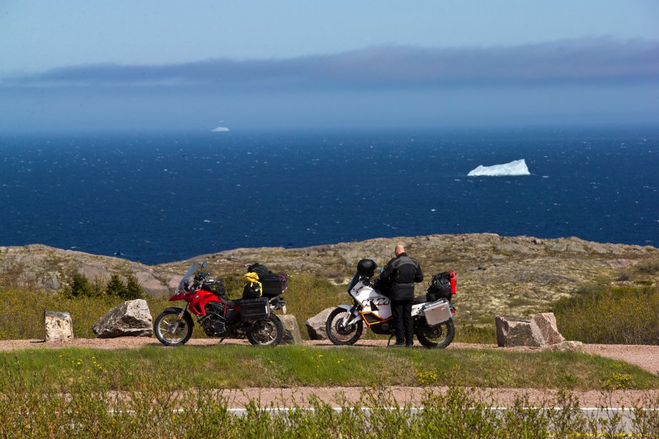 Superbe vue des icebergs à partir de la route 510 au sud de Red Bay. (PHOTO HUGO-SÉBASTIEN AUBERT, LA PRESSE)