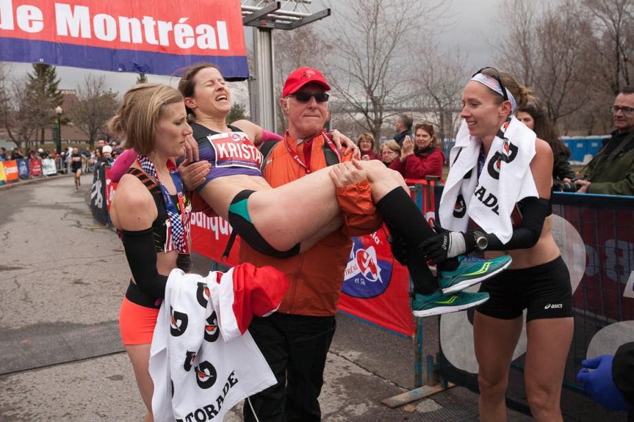 Krista DuChene menait largement le Championnat canadien de... (Photo Inge Johnson, fournie par Canada Running Series)