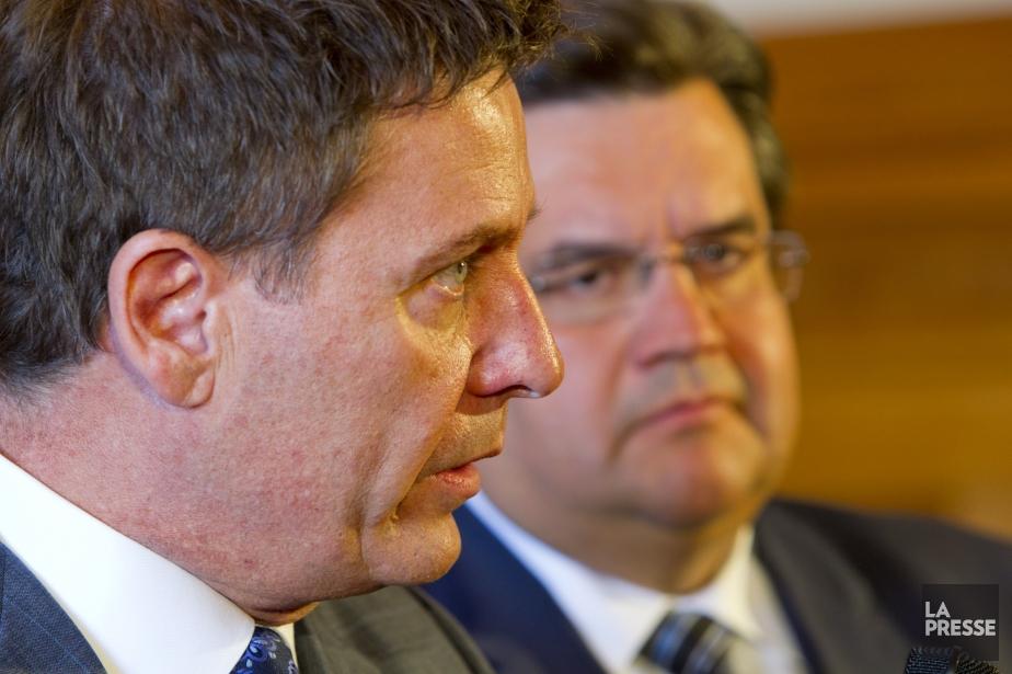 Pierre Moreau et Denis Coderre semblent partager la... (Photo Alain Roberge, La Presse)