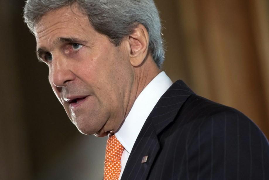 En tournée en Afrique, M. Kerry est arrivé... (PHOTO Saul Loeb, AP)