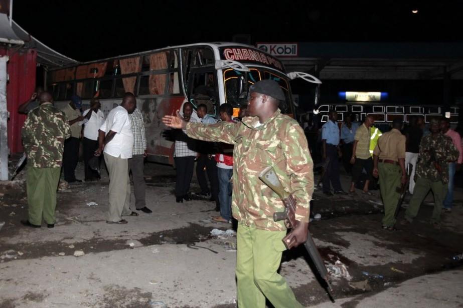 Une des deux explosions a eu lieu dans... (Photo Joseph Okanga, Reuters)