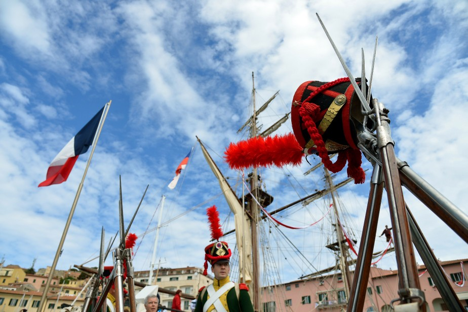 Pour tous, le séjour sur l'île d'Elbe de Napoléon est un symbole fort car c'est ici que l'empereur prépara son retour en France en mars 1815, qui conduira aux Cent-Jours, avant la chute finale de l'Aigle. (AFP)