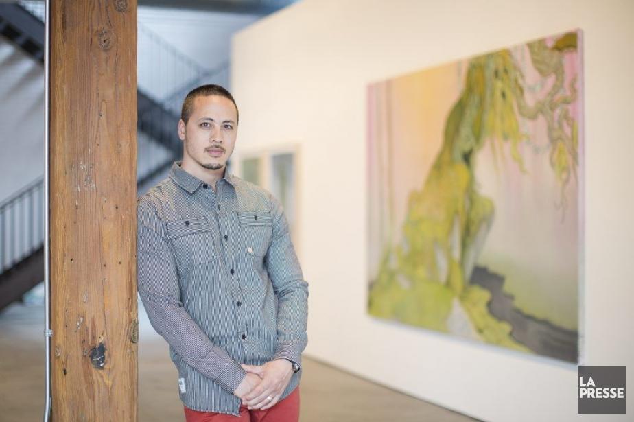 Le peintre Rick Leong explique que le fait... (PHOTO ÉDOUARD PLANTE-FRÉCHETTE, LA PRESSE)