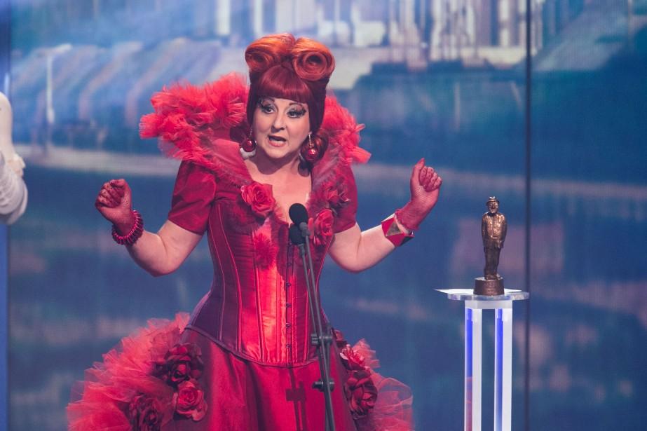 Marie-Lise Pilote présentait le prix Découverte. (PHOTO HUGO-SÉBASTIEN AUBERT, LA PRESSE)