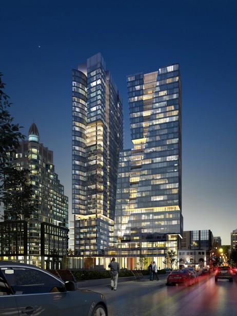 ICÔNE CONDOS (phase 1) 38 étages, 145 m, 360 condos (Béïque, Legault, Thuot architectes)