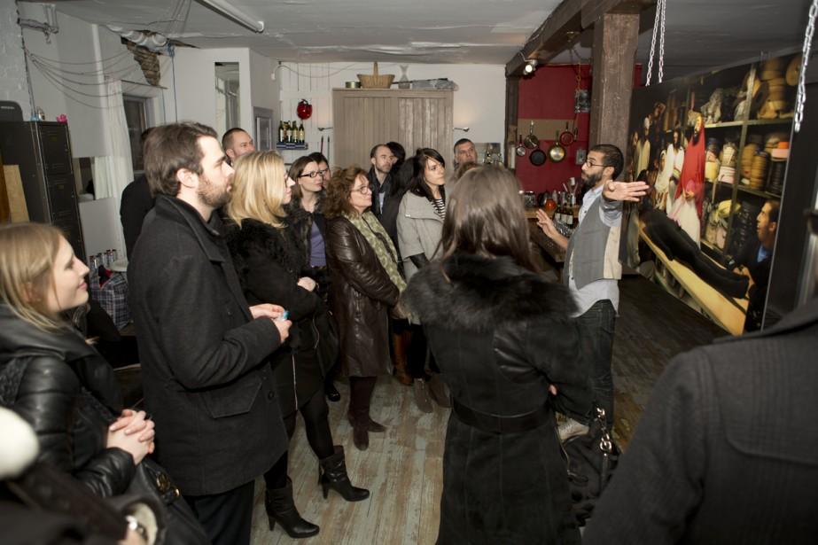 Une visite de l'atelier de 2Fik lors du... (Photo: fournie par le Rallye des galeries)